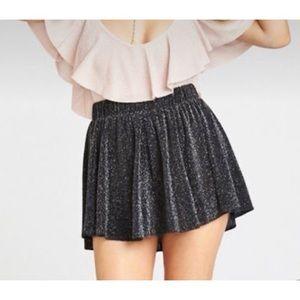 Show Me Your Mumu Black Glitter Mini Shorts